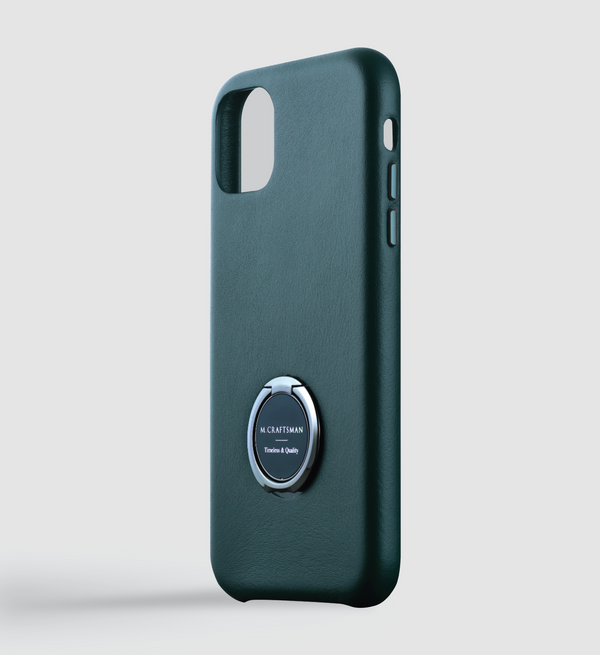 Leather + Ring iPhone 11 Case
