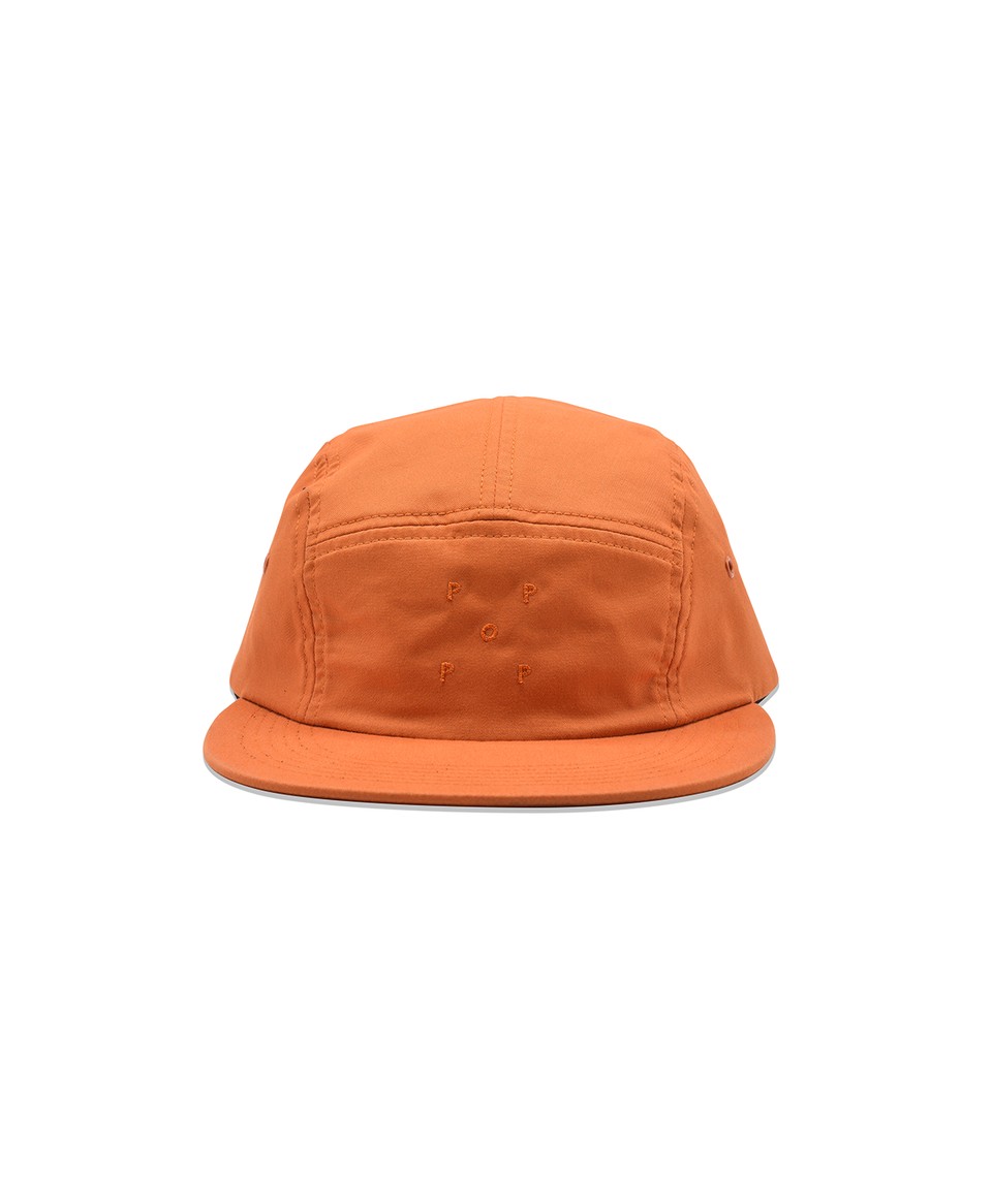 Pop Trading Company Logo 5 Panel Hat Amber