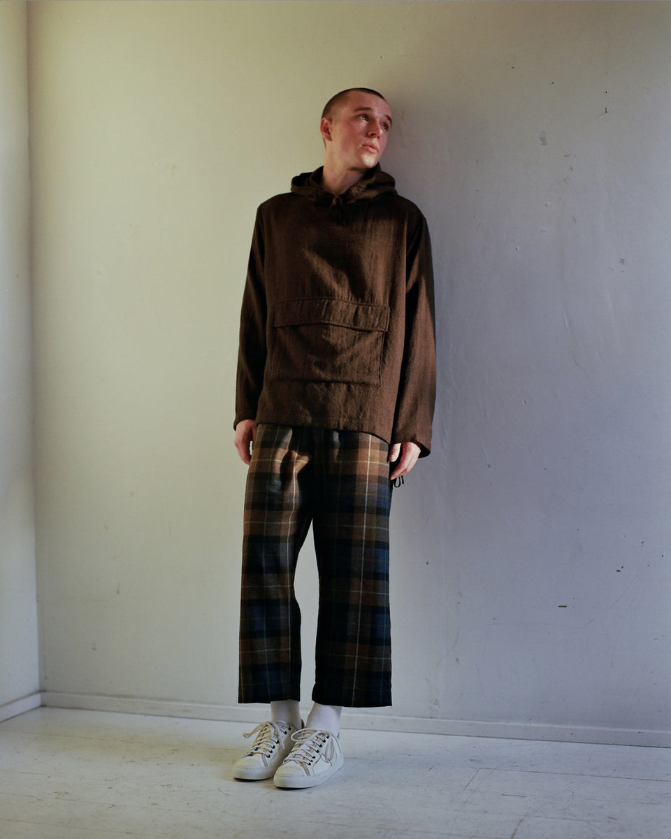 Evan Kinori Brushed Wool Twill Anorak