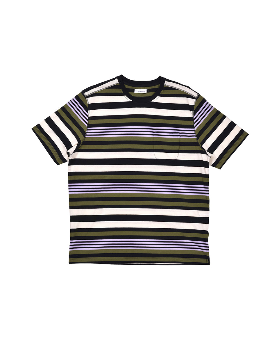 Pop Trading Company AW20 FW20 Striped Pocket T-Shirt Multicolour Multicolor Calculus Victoria BC Canada