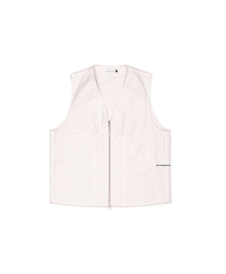 Pop Trading Company SS20 Wizard Vest White