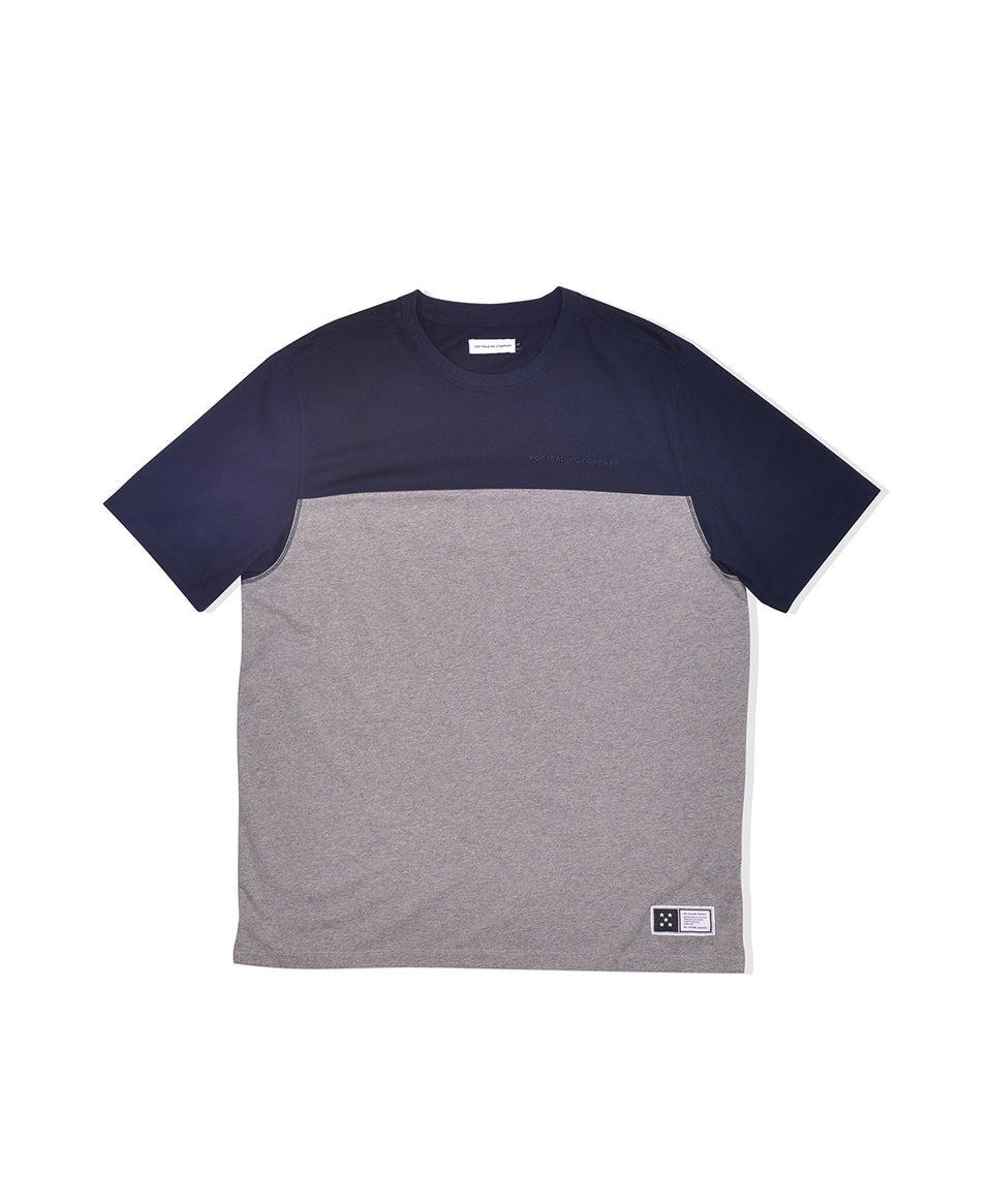 Pop Trading Company SS20 Fivestar T-Shirt Navy / Heather Grey Calculus Victoria BC Canada