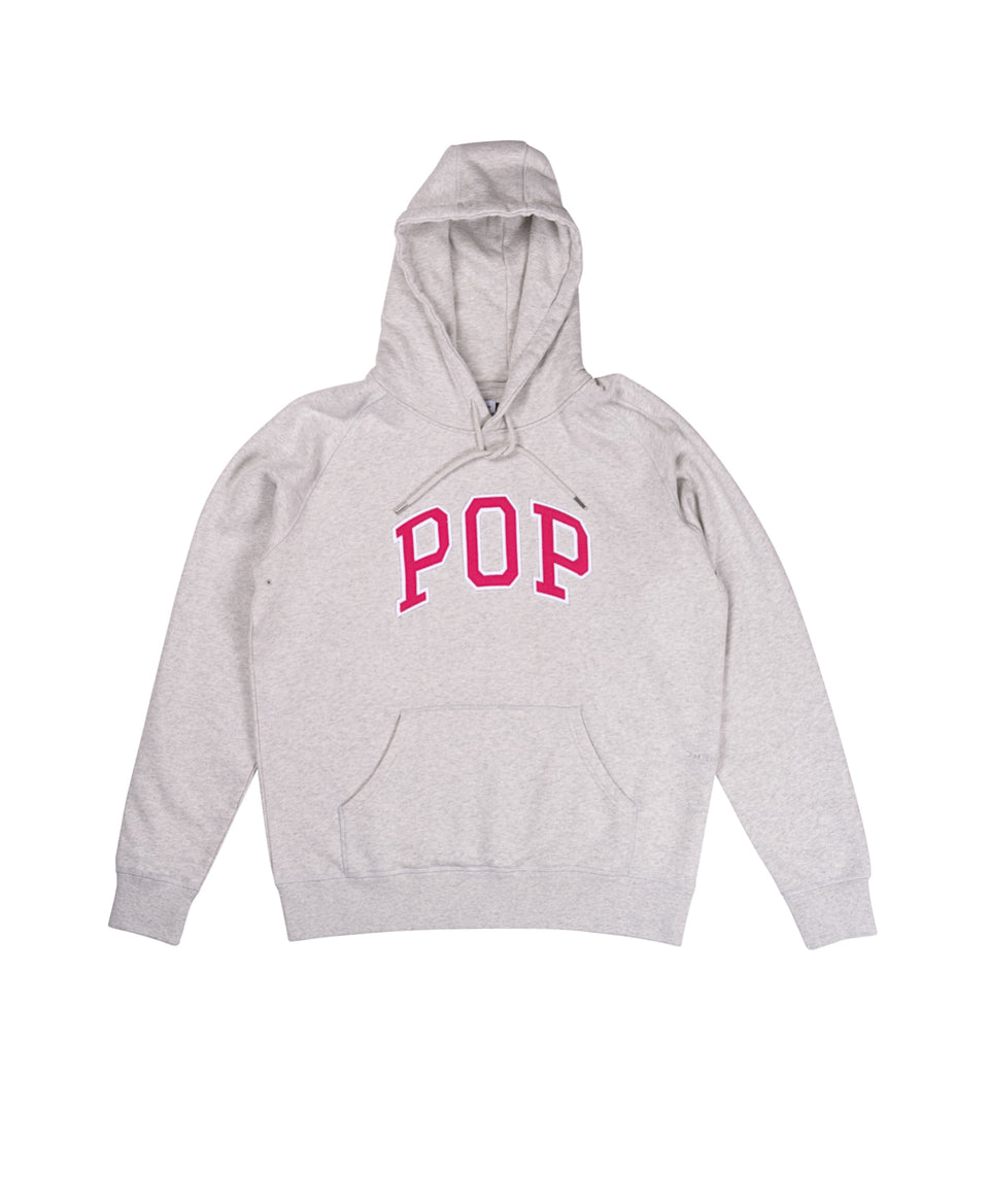 Pop Trading Company SS21 Arch Hooded Sweat Off-White / Heather Calculus Victoria BC Canada