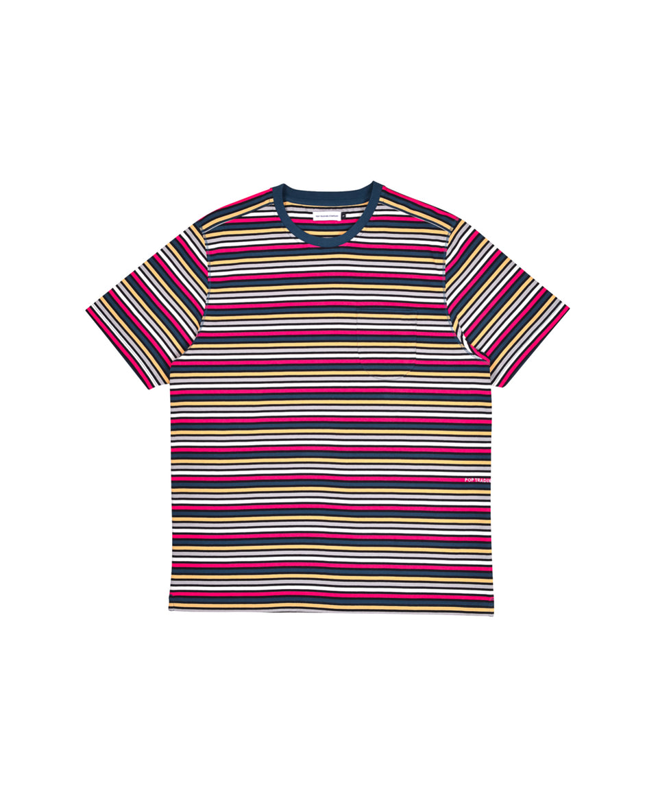 Pop Trading Company SS21 Striped Pocket T-Shirt Multicolour Calculus Victoria BC Canada