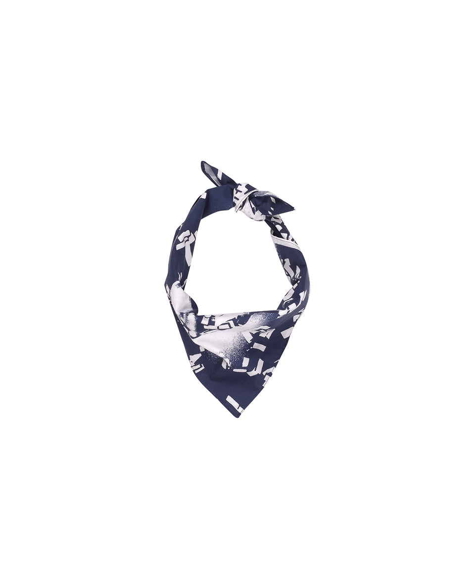 Pop Trading Company AW20 FW20 SAFE-TRIP.ORG/POP Bandana Navy Calculus Victoria BC Canada