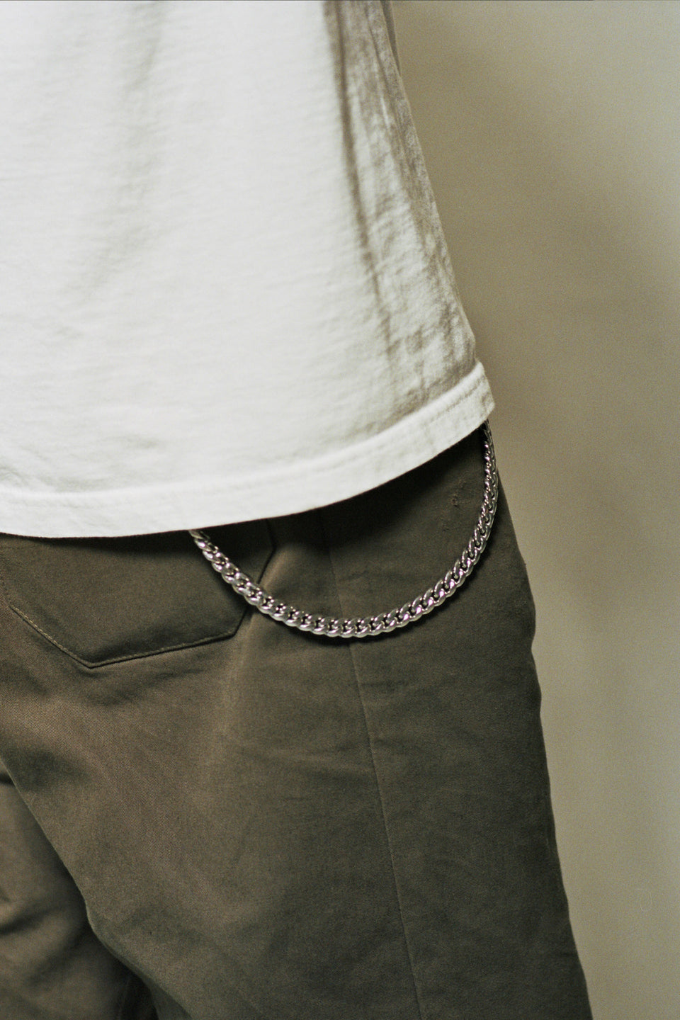 The Silver Stone Cuban Wallet Chain