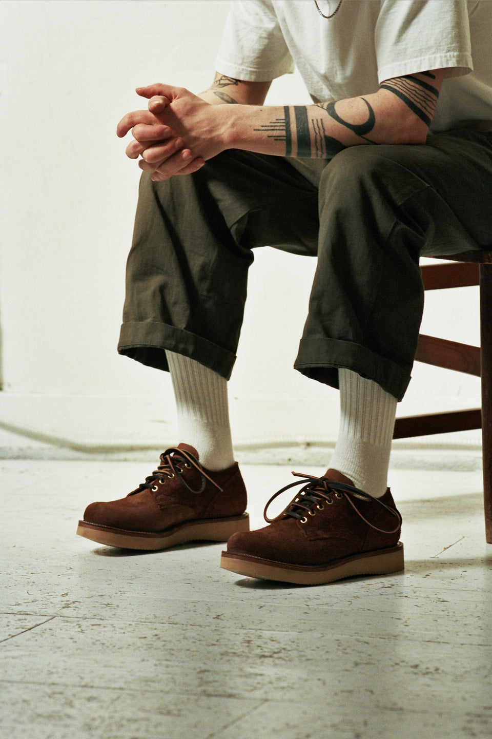Aged Bark Roughout Brown 145 Oxford Shoe