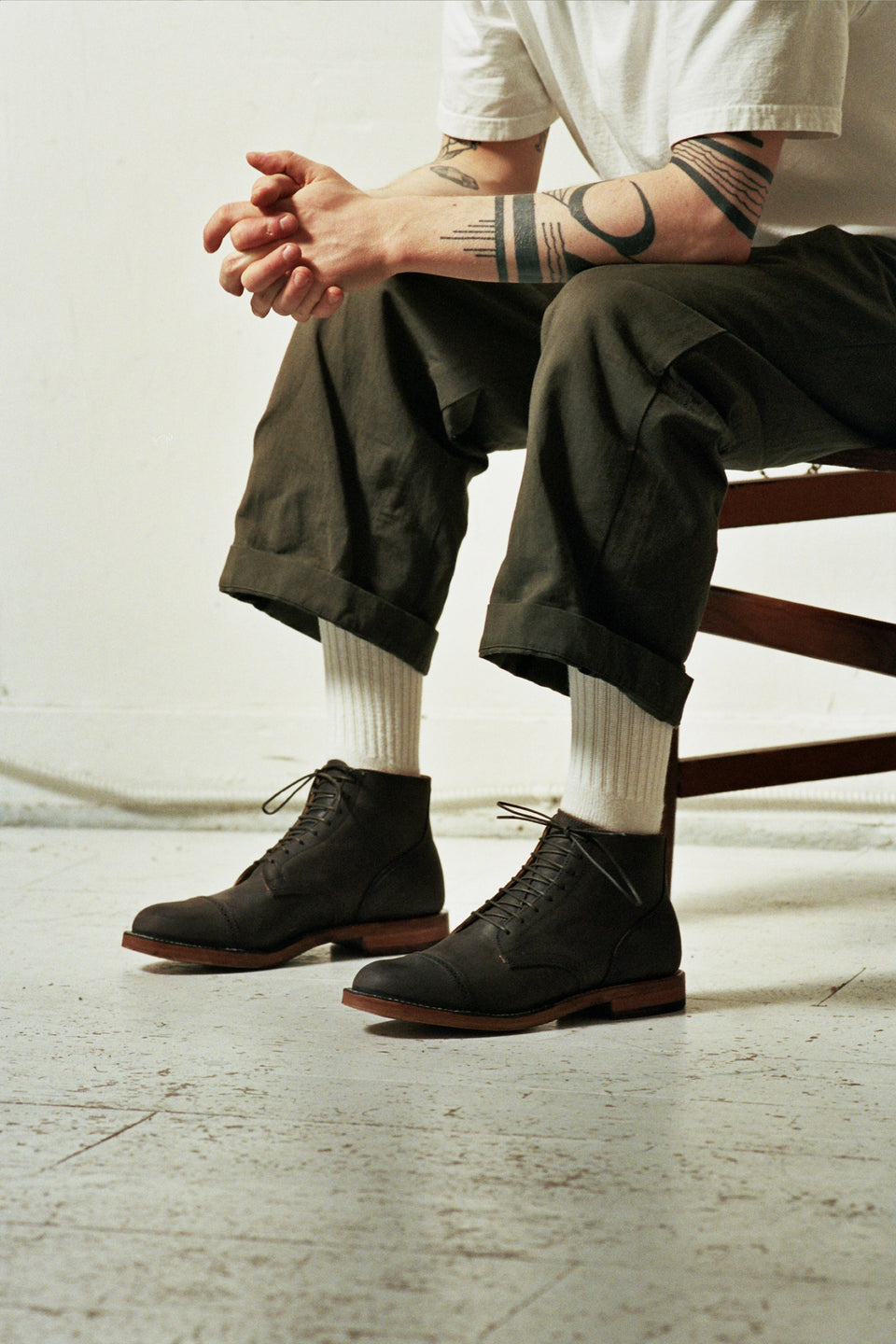 Dust Brown Calf Service Boot