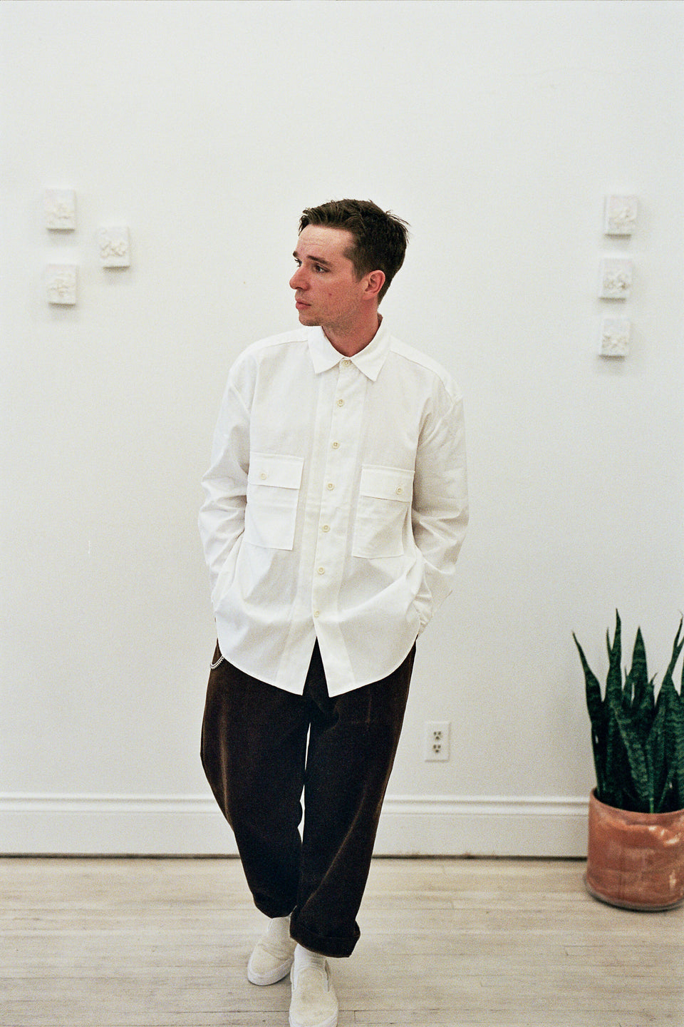 Evan Kinori Big Shirt Organic Cotton / Hemp Oxford White