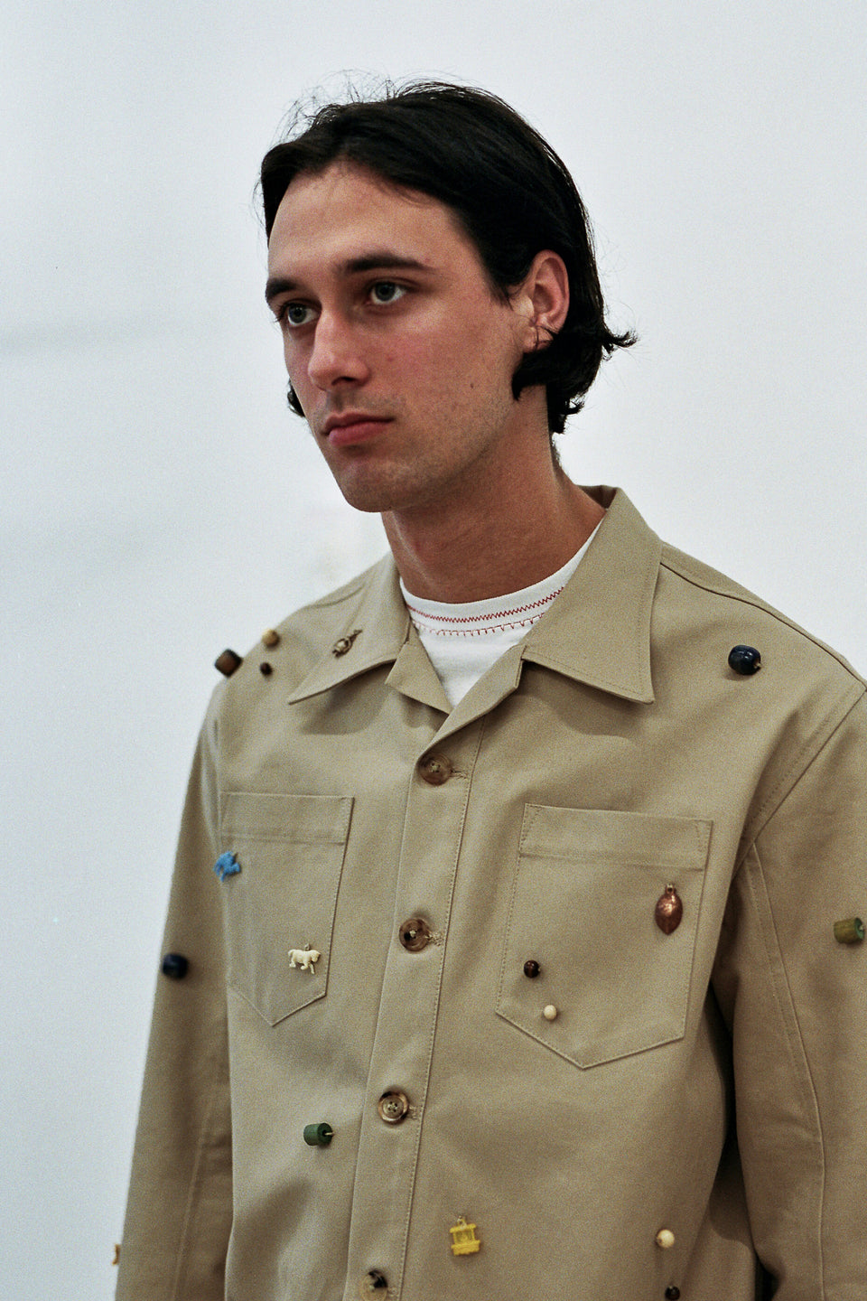 Bode Canvas Critter Work Shirt