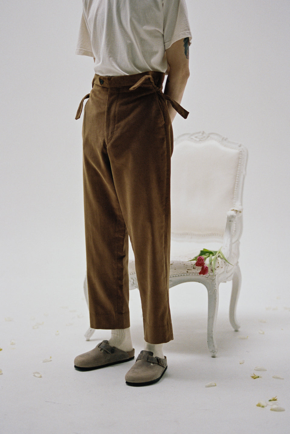 Bode New York NYC FW20 AW20 Corduroy Side Tie Trousers Brown Calculus Victoria BC Canada