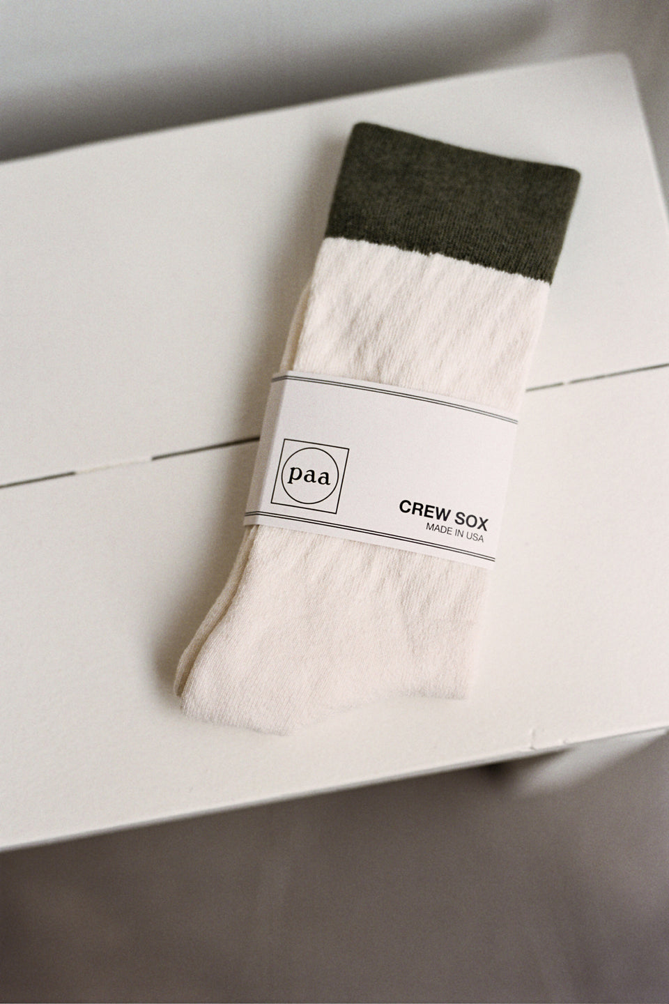 Paa NYC New York City Recycled Crew Sox 2.5 Ecru / Olive Calculus Victoria BC Canada