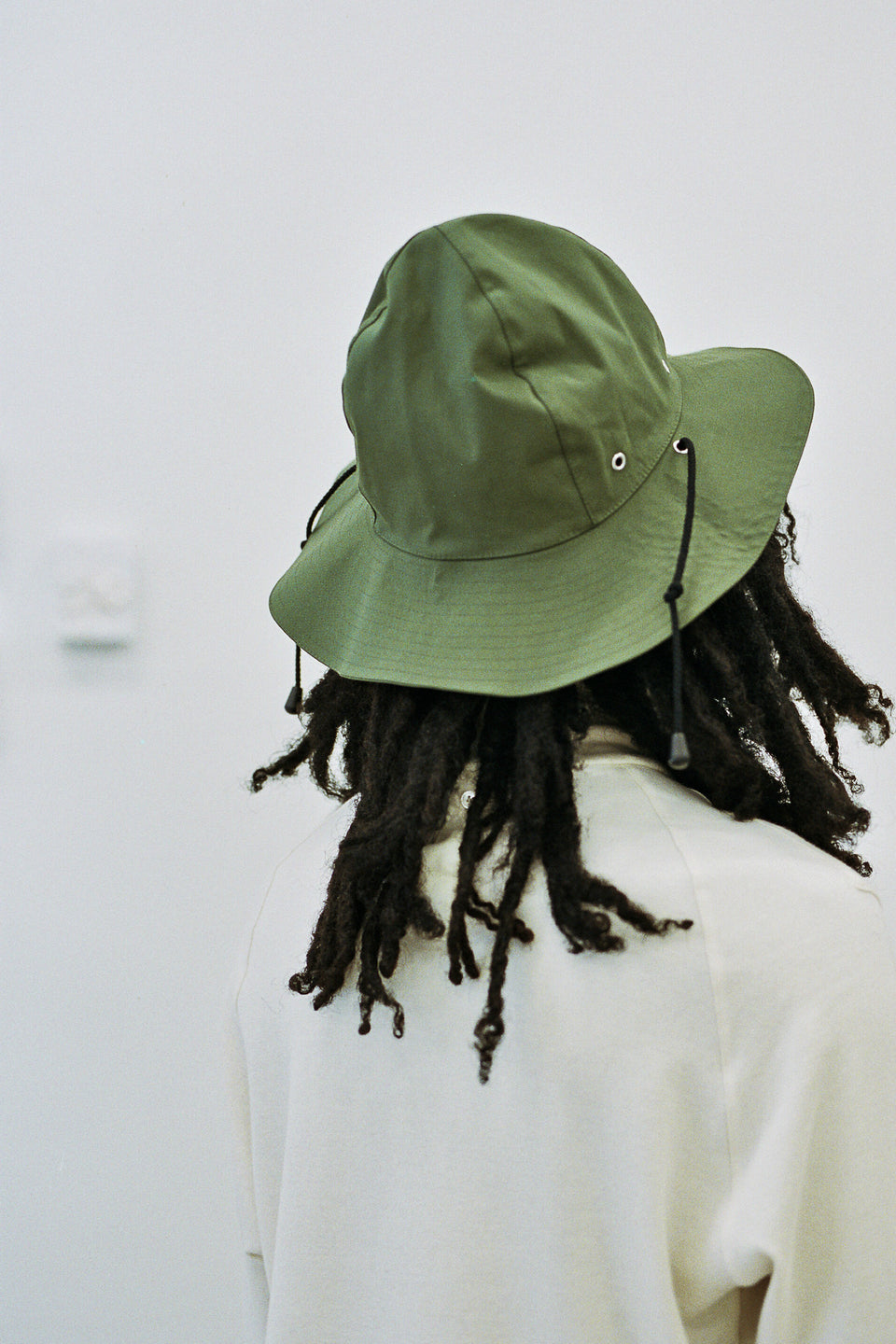Nicholas Daley Hancock Rubberized Safari Hat Olive Green