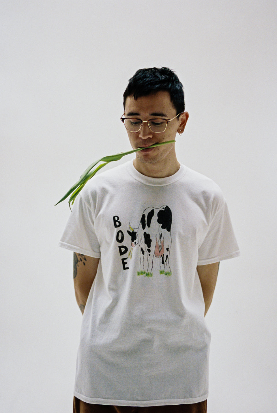 Bode New York NYC FW20 AW20 Hand Drawn Bode Cow's Tail Tee White Calculus Victoria BC Canada
