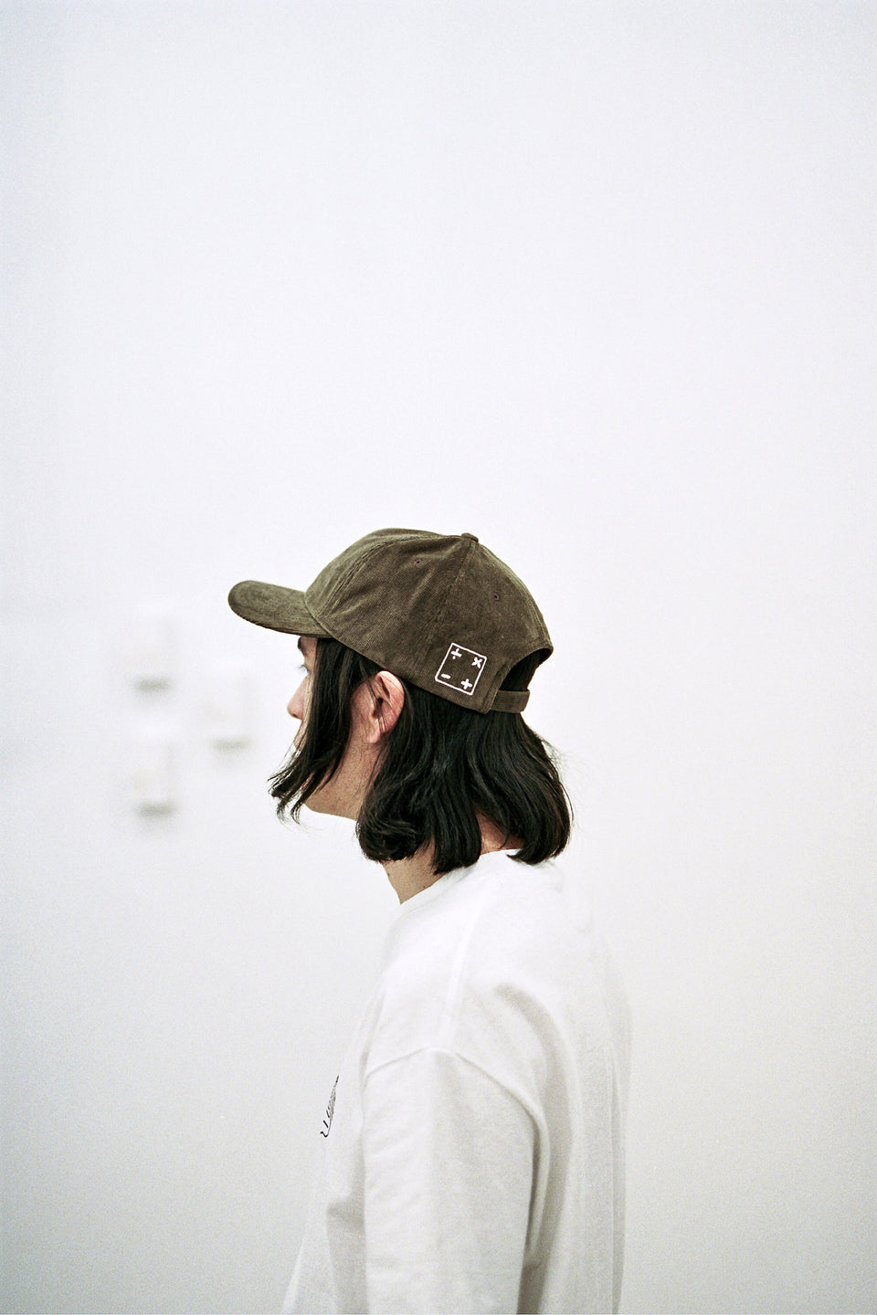 Calculus Embroidered Corduroy Logo Hat Olive