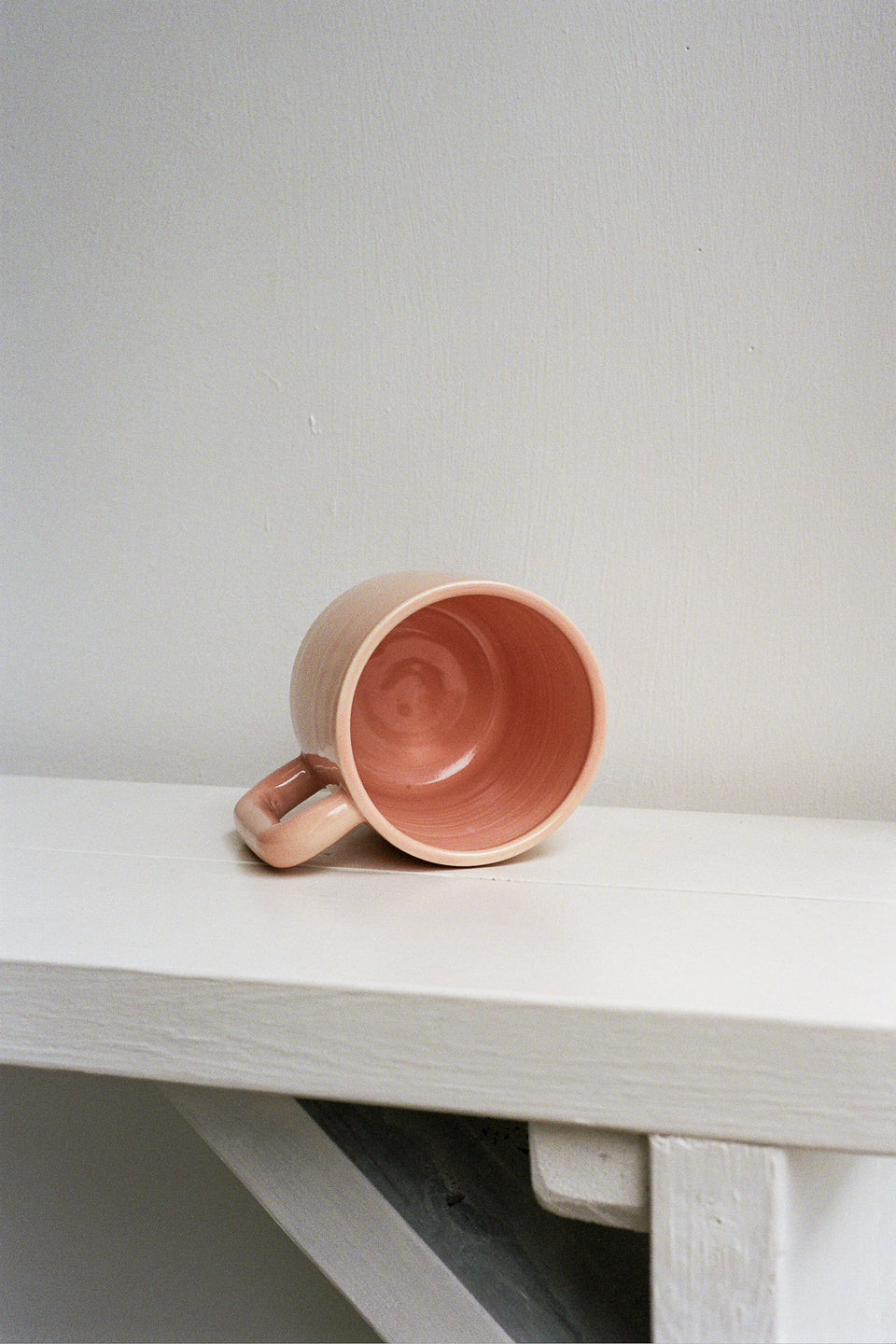 Rachel Saunders Ceramics Glossy Blush Long Handle Mug