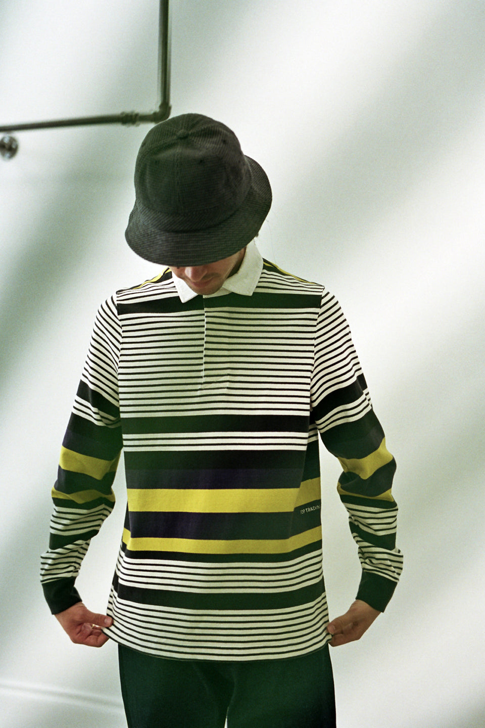 Pop Trading Company AW20 FW20 Striped Rugby Polo Multicolor Calculus Victoria BC Canada