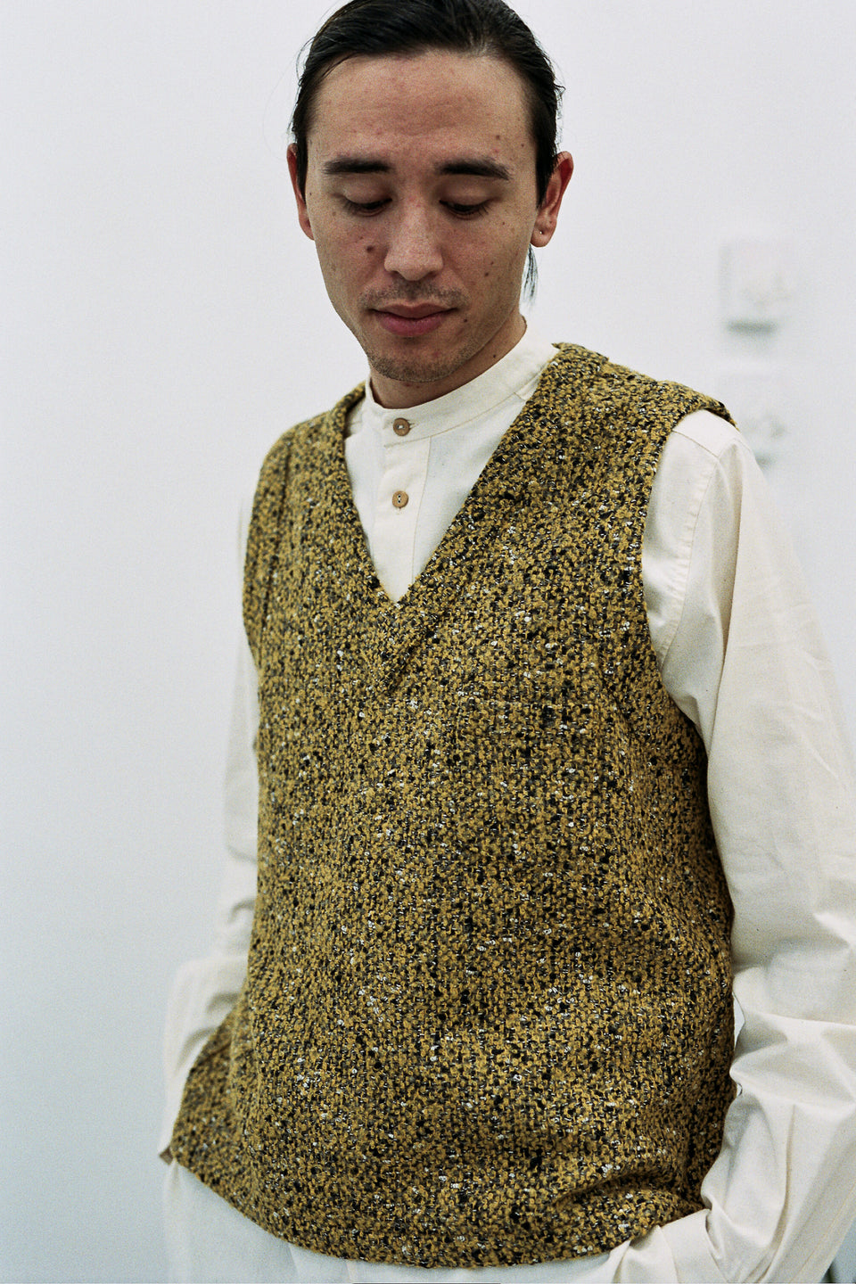 Frank Leder Wool Vest Yellow