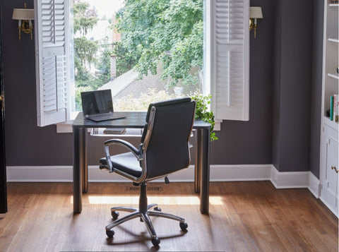 A sleek, compact Chassie desk