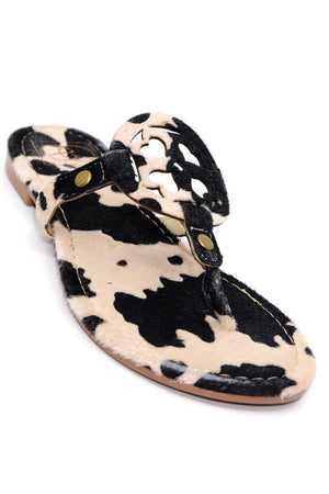 The Cow Print Slip on Sandal