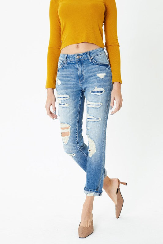 The Dana Patchwork Jeans
