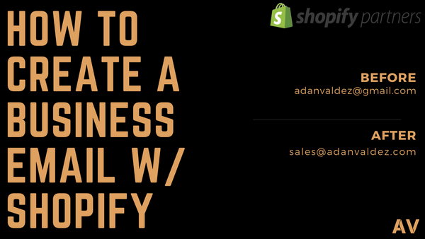 How To Create A Business Email With Shopify