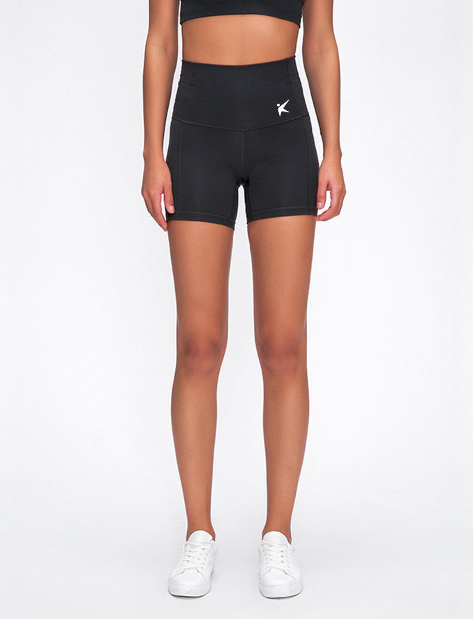 HIGH WAISTED BOOTY SHORT (BLACK)