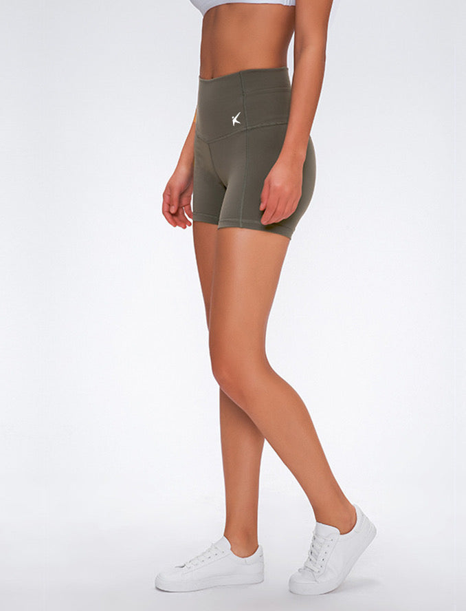 HIGH WAISTED BOOTY SHORT (OLIVE)