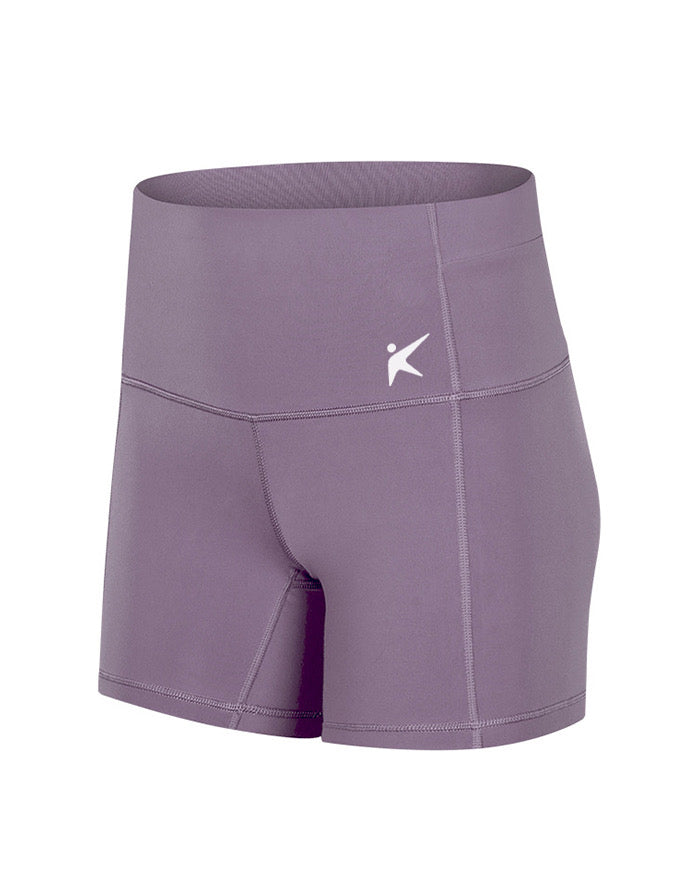 HIGH WAISTED BOOTY SHORT (PALE LILAC)