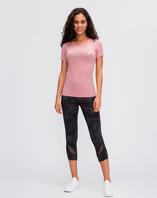 PURE LIGHT TECH SHORT SLEEVE TOP (LIGHT PINK)