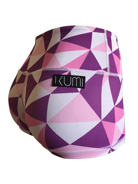 Kumi Purple Geometric Booty Short