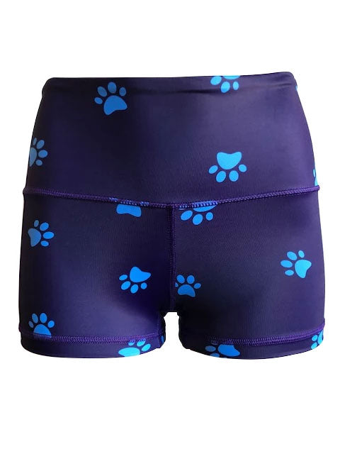 KUMI Blue Paw Prints Booty Short