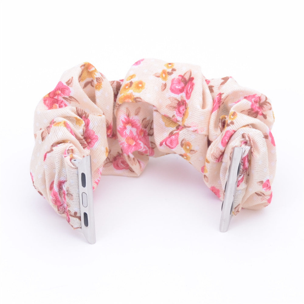 Floral Multifunction Multicolor Hair Scrunchie Apple Watch Band