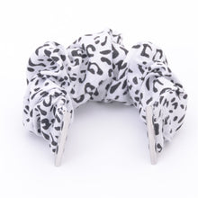Load image into Gallery viewer, White Leopard Multifunction Multicolor Hair Scrunchie Apple Watch Band