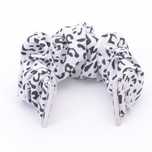 White Leopard Multifunction Multicolor Hair Scrunchie Apple Watch Band
