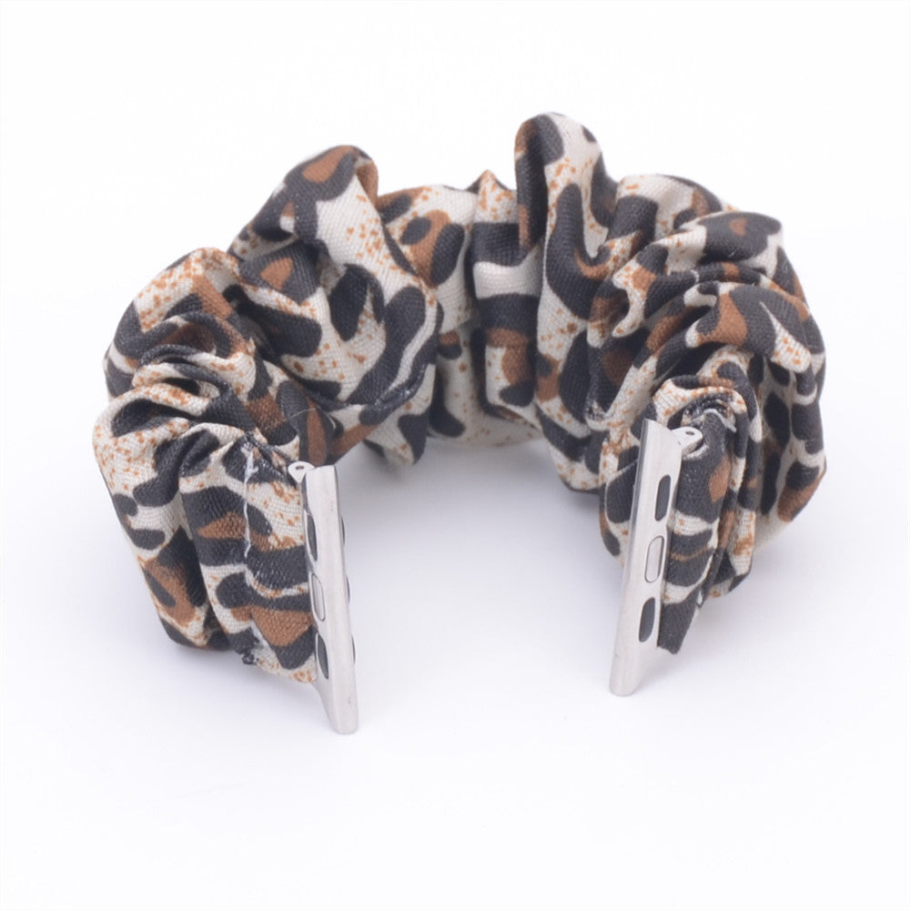 Leopard Multifunction Multicolor Hair Scrunchie Apple Watch Band