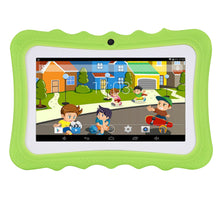 "Load image into Gallery viewer, Green Kids 7"" Wifi Android Tablet With Stand"