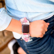 Load image into Gallery viewer, Floral Multifunction Multicolor Hair Scrunchie Apple Watch Band