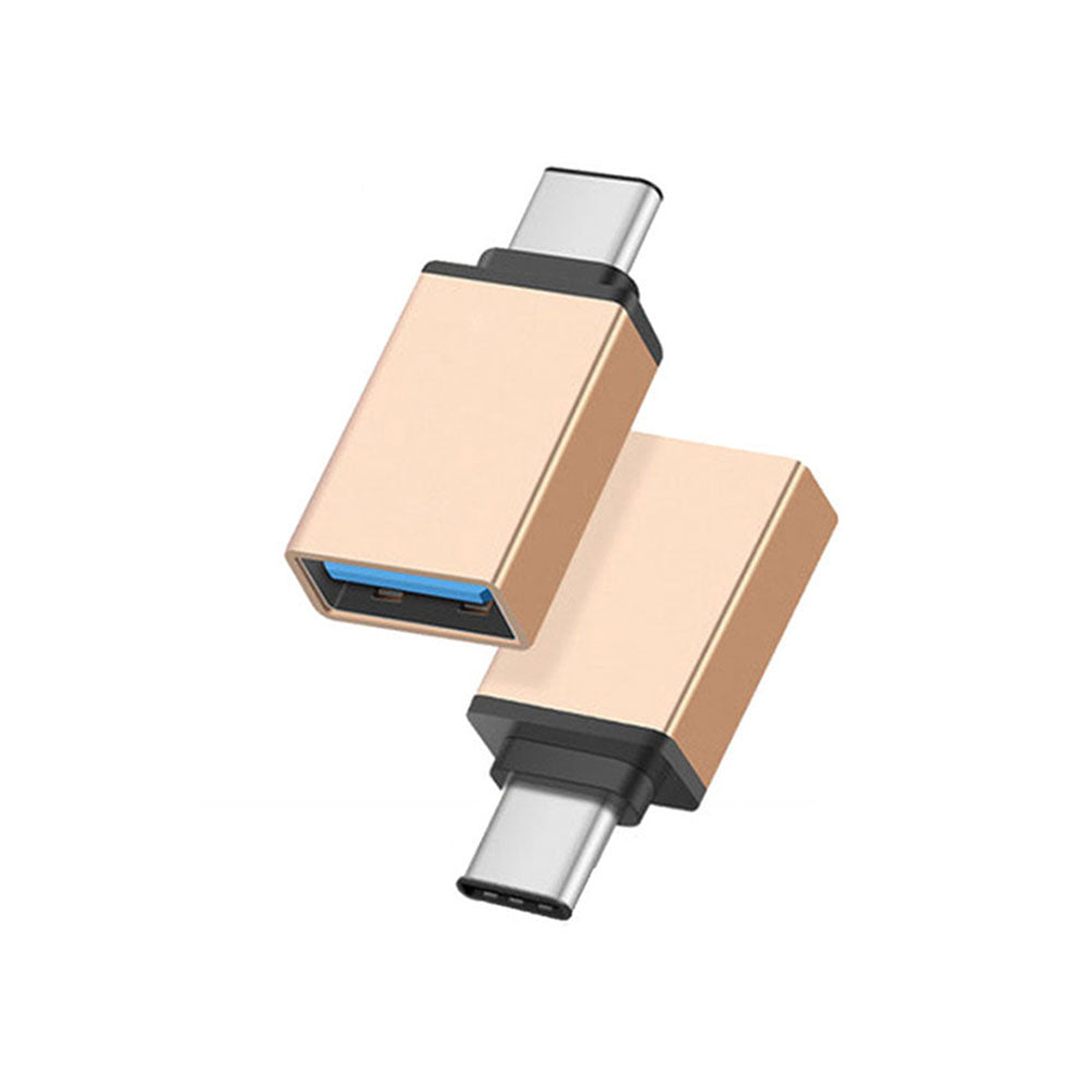 Gold USB to USB Type-C Adapter