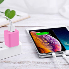 Load image into Gallery viewer, Pink 2 Pack Dual Port USB Wall Charger