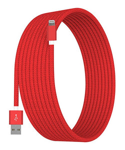Red 10' Lightning Charging Cable