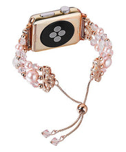 Load image into Gallery viewer, Rose Gold Forever Imitation Pearl Apple Watch Band