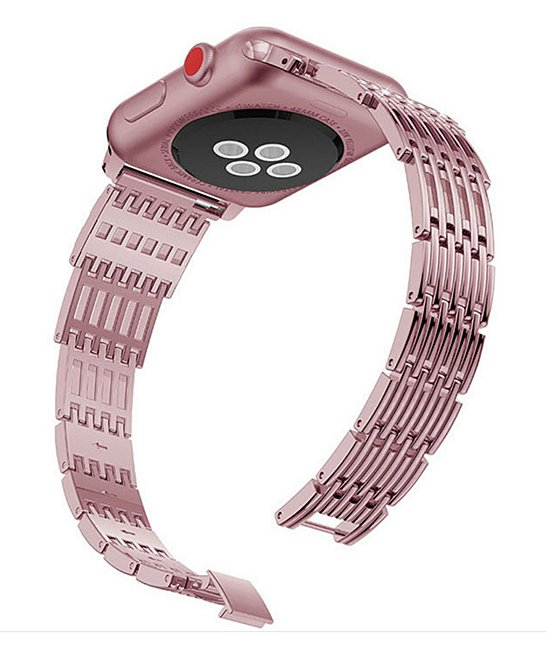 Pink Metal Apple Watch Band