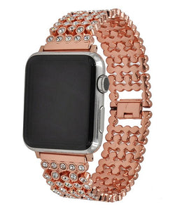 Rose Gold Honeycomb Rhinestone Apple Watch Band