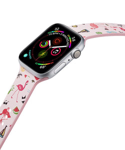 Pink & Green Flamingo Apple Watch Band