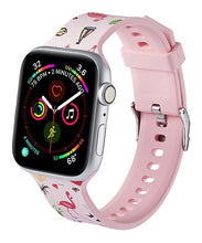 Load image into Gallery viewer, Pink & Green Flamingo Apple Watch Band