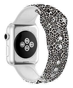 Black & White Leopard Apple Watch Band