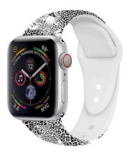 Load image into Gallery viewer, Black & White Leopard Apple Watch Band