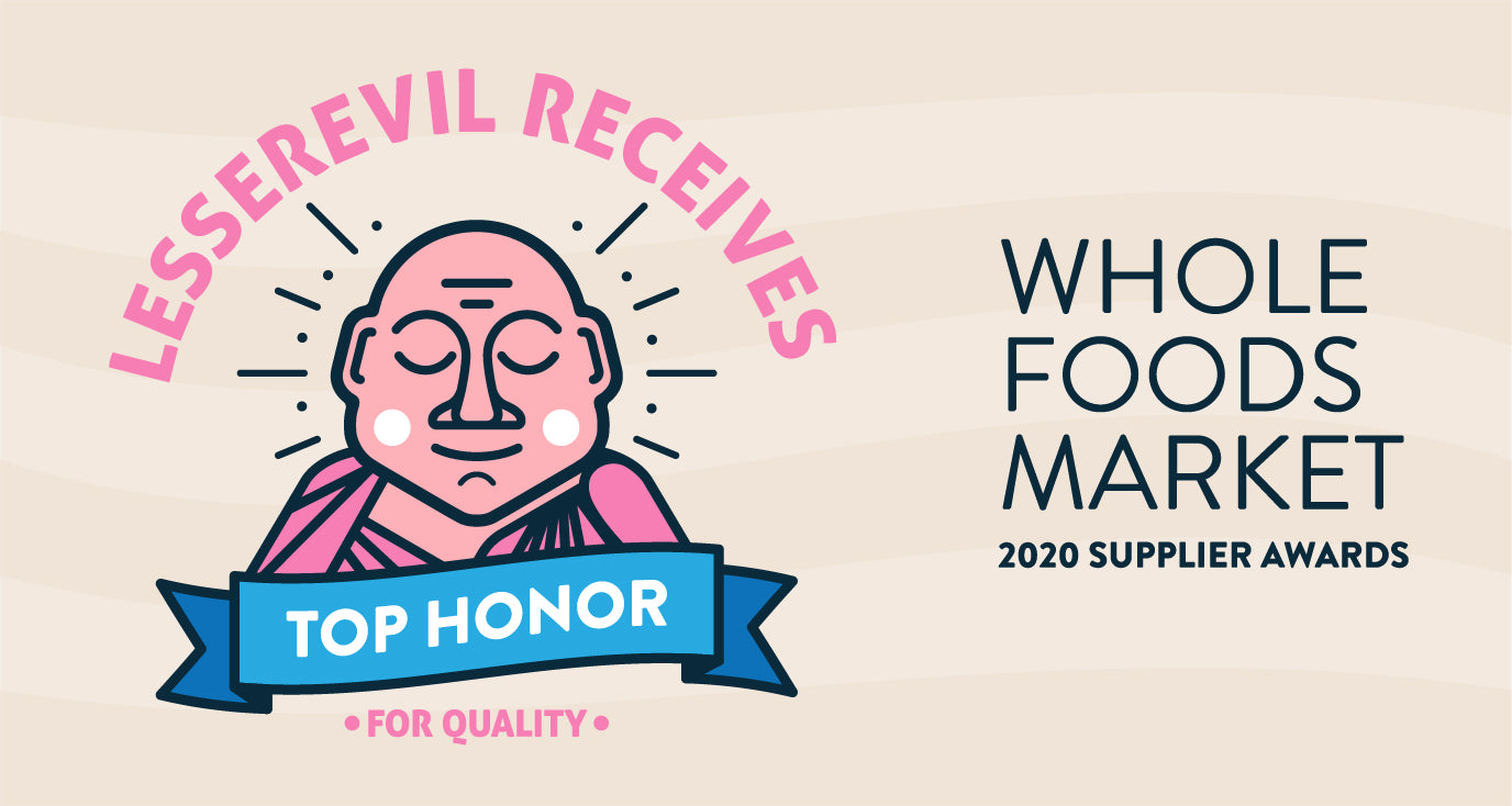LesserEvil Received Top Honor For Quality At WholeFoods Market 2020 Supplier Awards