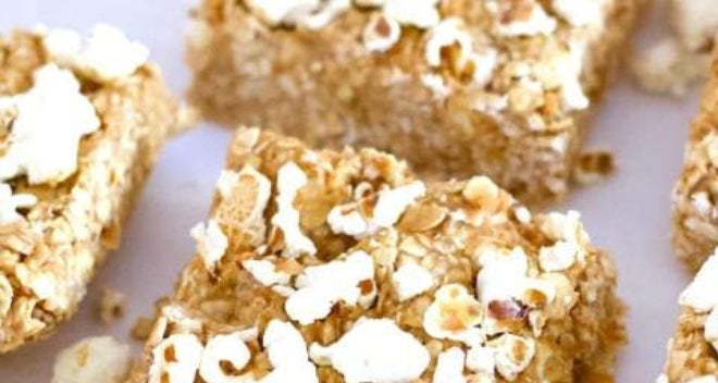 No-Bake Peanut Butter Popcorn Bars